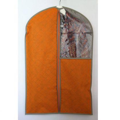 Чехол с окошком для одежды 110x57 см, оранжевый