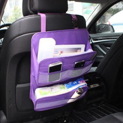 Органайзер многофункциональный на спинку в авто, фиолетовый