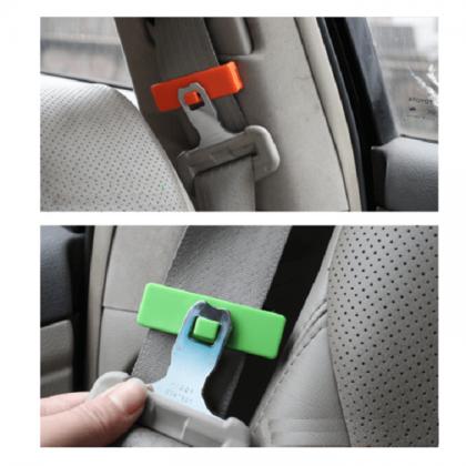 Набор креплений в авто для ремня безопасности 2 шт, разные цвета