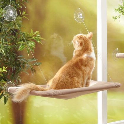 Лежанка подвесная на присосках для кошек Sunny Seat