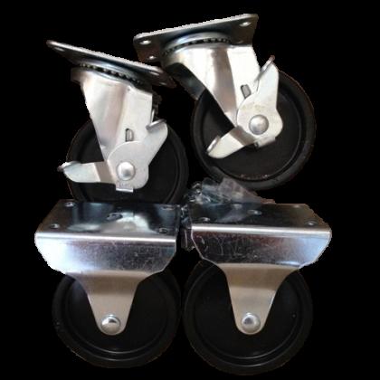 Набор колес для металлической тумбы