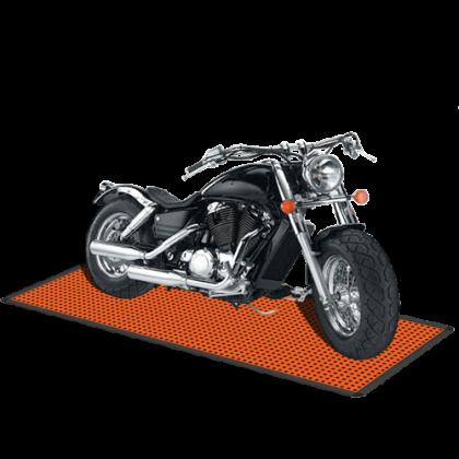Напольное покрытие для мотоцикла 1,15x2,54 м, оранжевое