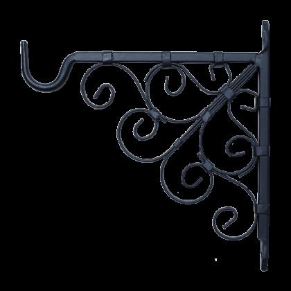 Кронштейн для подвешивания кашпо 17,5 см, черный