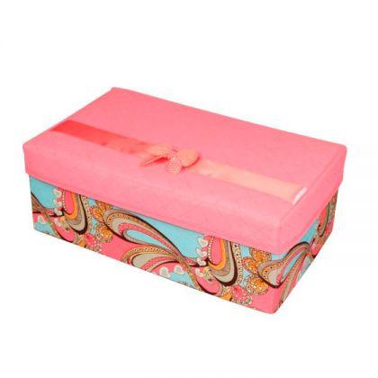 Коробка для хранения с бантом 32*20*12см
