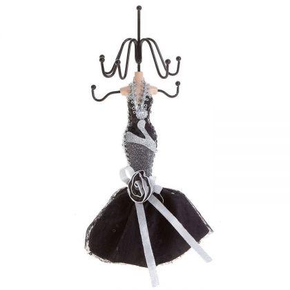 Подставка для украшений Серебристо-черное платье