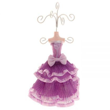 Подставка для украшений Платье с бантом, высота 18 см, разные цвета