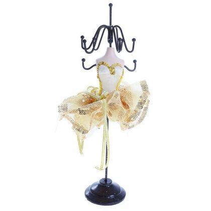 Подставка для украшений Золотистое платье, высота 29 см