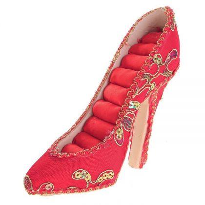 Подставка для украшений Туфелька, красная