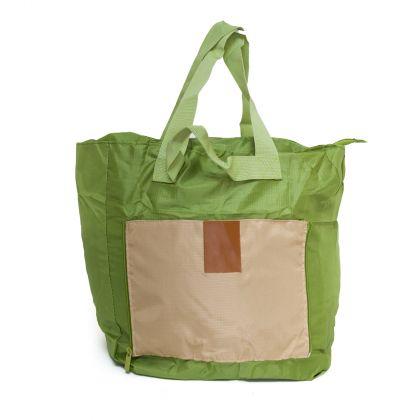 Сумка для покупок и путешествий, зеленая