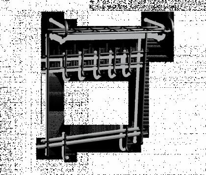 Настенная вешалка с полкой универсальная, черный, 63 x 31 x 82 см
