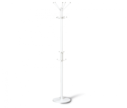 Вешалка напольная офисная модель 3, бело-серая