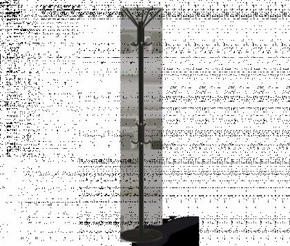 Вешалка напольная офисная модель 3, черно-серая