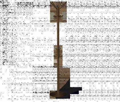 Вешалка напольная офисная модель 3, медно-черная