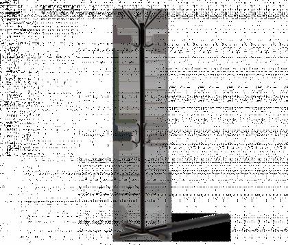 Вешалка напольная офисная модель 5, черно-серая