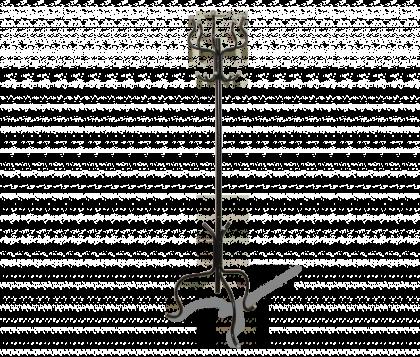 Вешалка напольная модель 2, черно-серая