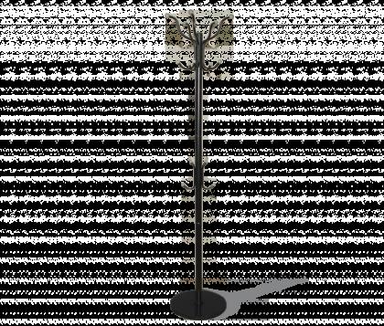Вешалка напольная модель 3, черно-серая