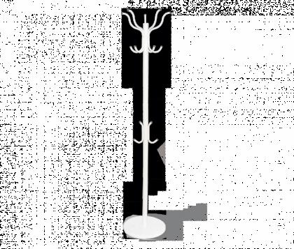 Вешалка напольная модель 3, бело-серая