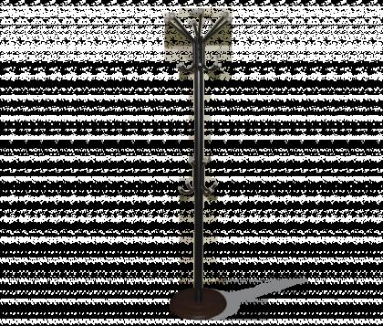Вешалка напольная модель 4, черно-серая, дерево