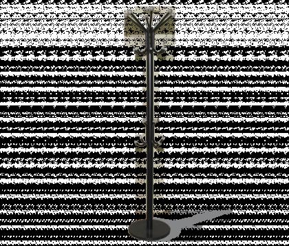 Вешалка напольная модель 4, черно-серая, мрамор