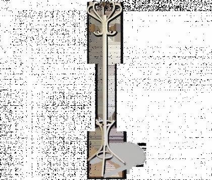 Вешалка напольная модель 5, слоновая кость