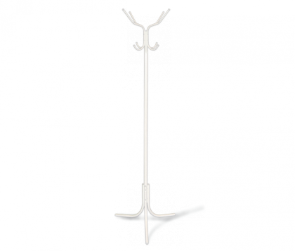 Вешалка напольная модель 8, бело-серая