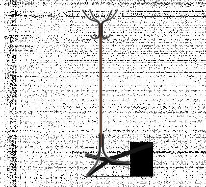 Вешалка напольная модель 8, темный орех