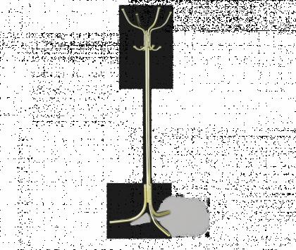 Вешалка напольная модель 8, золото