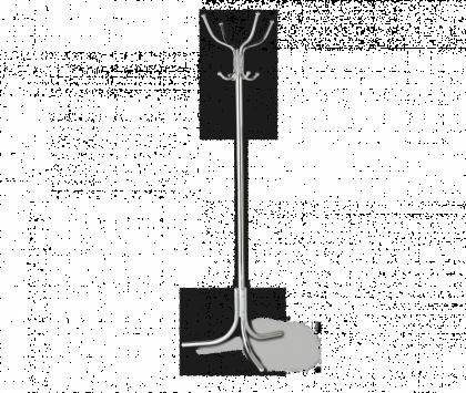 Вешалка напольная модель 12, хром