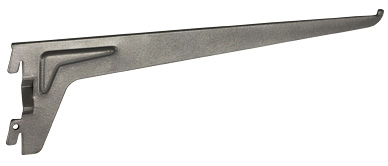 Кронштейн к стеновой стойке 400 мм, блестящий алюминий