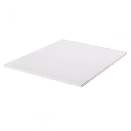 Полка ЛДСП для стеллажа, белая