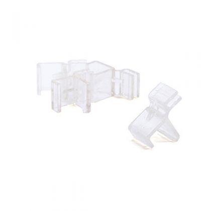 Пластиковый фиксатор полка-стеллаж (4шт), прозрачный