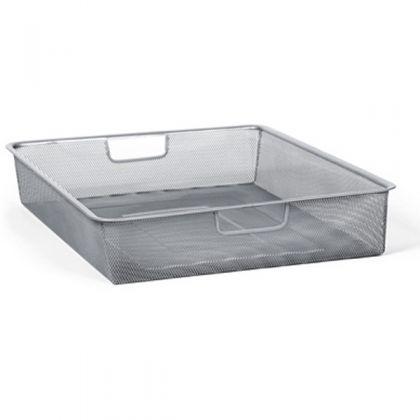 Мелкосеточная корзина, блестящий алюминий, 55,5 х 41 х 8,5 см
