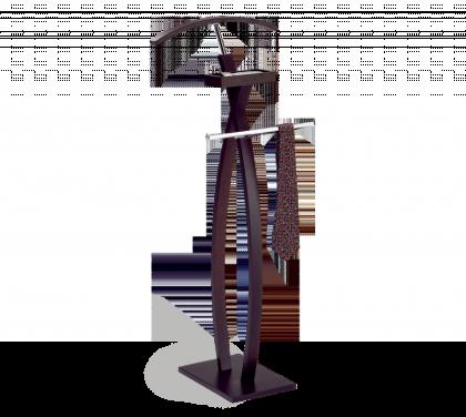 Вешалка костюмная модель 7, темный орех