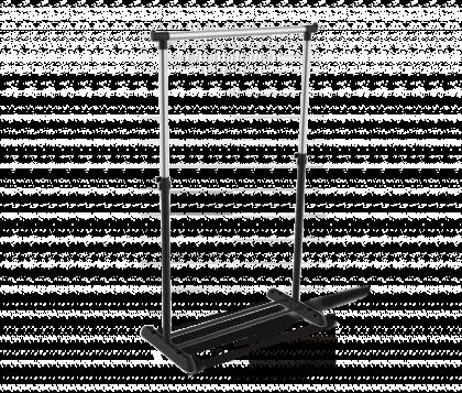 Вешалка гардеробная модель 3, хром, черная