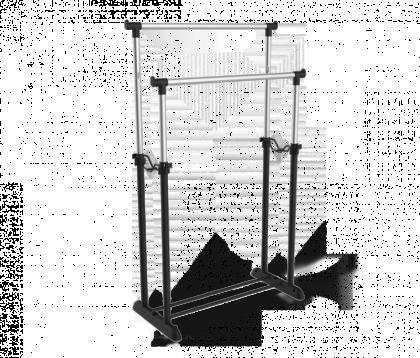 Вешалка гардеробная модель 3 двойная, хром, черная