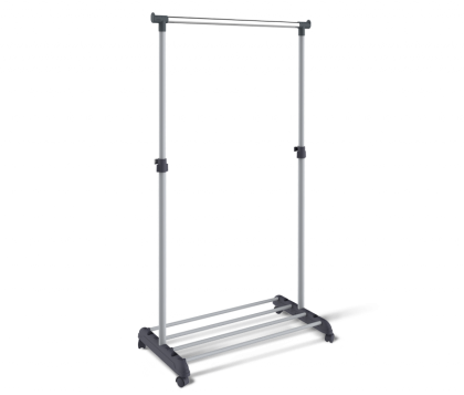 Вешалка гардеробная модель 4, хром, серая