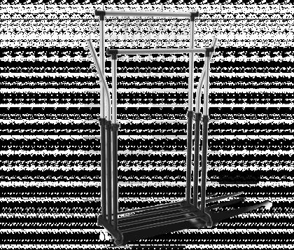 Вешалка гардеробная модель 7 двойная, хром, черная