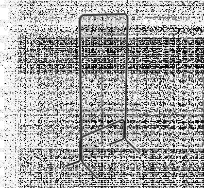 Вешалка гардеробная модель 9, черная