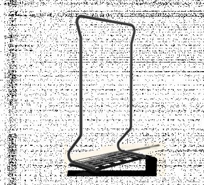Вешалка гардеробная модель 10, черная