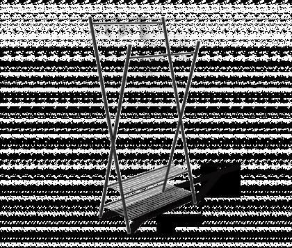 Вешалка гардеробная модель 12, черная