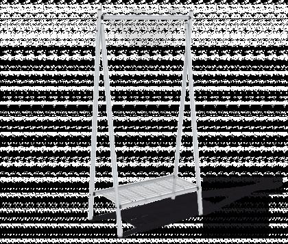 Вешалка гардеробная модель 13, серая