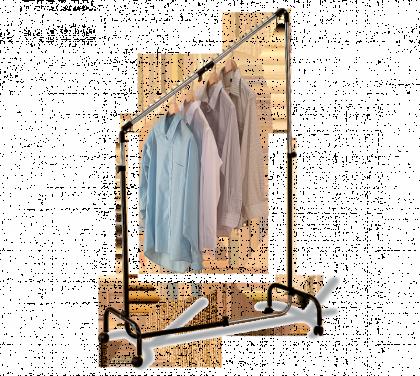Вешалка гардеробная модель 14, хром, черная
