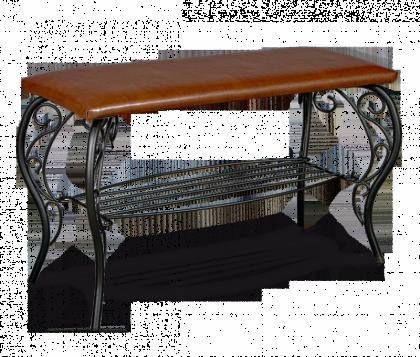 Банкетка модель 4, черная, коричневая