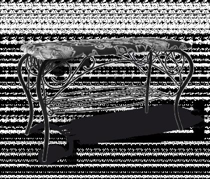 Банкетка Изабель 1, черная, Зарина