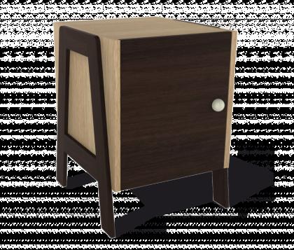 Стеллаж для хранения модель 2, дуб беленый, венге