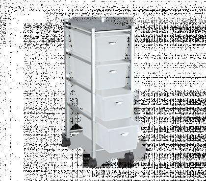 Стеллаж для хранения модель 4, хром, белый