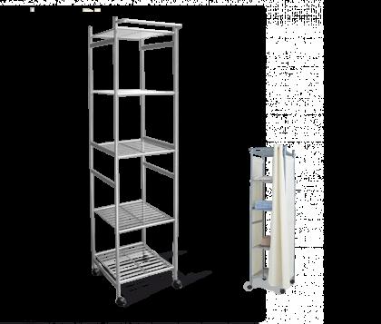 Стеллаж для хранения модель 5, серый