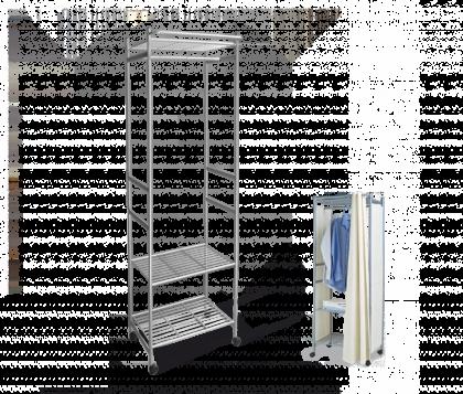 Стеллаж для хранения модель 6, серый