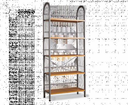 Стеллаж для хранения модель 7, серый, светлый орех
