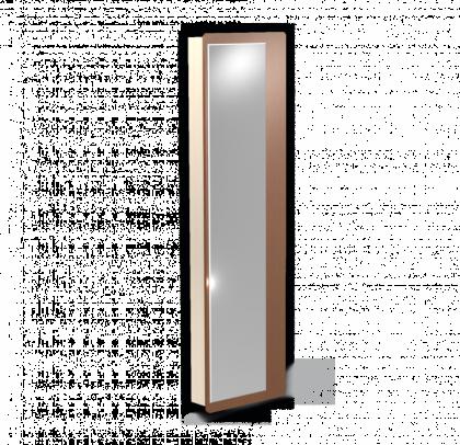 Стеллаж с зеркалом модель 1, дуб молочный, орех